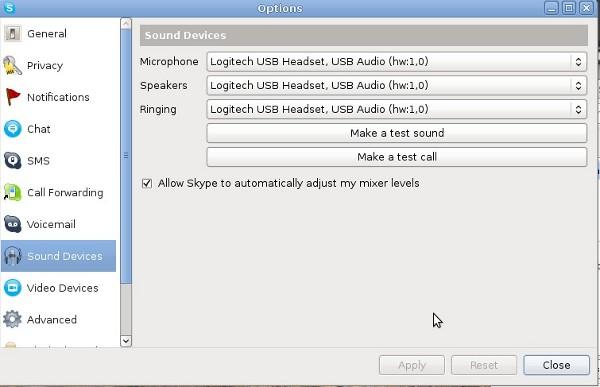 Skype Select Logitech USB Headset