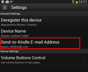How to setup up the Kindle App on an Android based Device